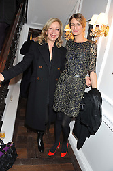 Left to right, MARY GREENWELL and JACQUETTA WHEELER at a party to celebrate thelaunch of Alice Temperley's flagship store Temperley, Bruton Street, London on 6th December 2012.