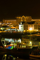 Night view of the Victoria & Albert Waterfront, Cape Town, South Africa