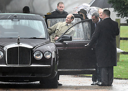 The Earl of Wessex leaves after attending the morning church service at St Mary Magdalene Church in Sandringham, Norfolk.