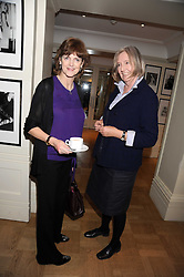 Left to right, VIRGINIA FRASER and THERESA WELLS at a tea in aid of ASAP - African Solutions to African Problems, held at Vogue House, Hanover Square, London on 22nd October 2008.