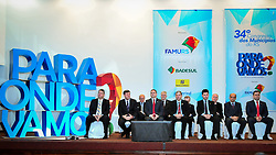 Cerimônia de abertura do 34º Congresso de Municípios, no Plaza São Rafael, em Porto Alegre. FOTO: Jefferson Bernardes/ Agência Preview