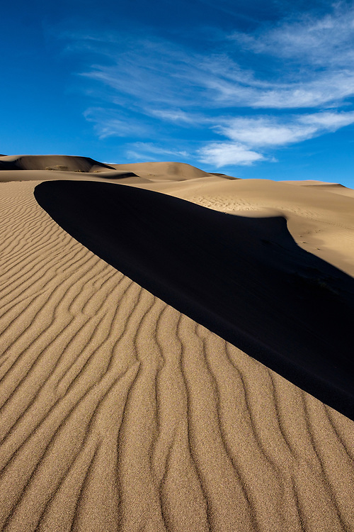 The play of light and shadow on the dunes never ceases to amaze me.