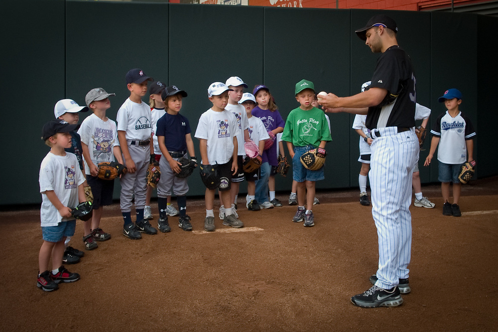 TAYLOR BUCHHOLZ, pitcher for the Colorado Rockies, gives some pitching tips.