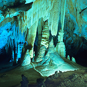 The Big Room deep inside Carlsbad Caverns, Carlsbad Caverns National Park, NM.