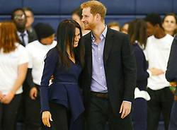 8 in series of 10. File photo dated 24/9/2018 of Prince Harry and Meghan Markle attending the Coach Core Awards at Loughborough University.