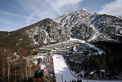 Panoramic picture of Planica at e.on Ruhrgas FIS World Cup Ski Jumping on K215 ski flying hill, on March 14, 2008 in Planica, Slovenia . (Photo by Vid Ponikvar / Sportal Images)./ Sportida)