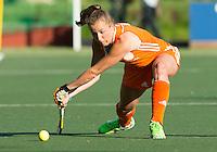AMSTERDAM - Hockey -  Frédérique Derkx (Neth) .  Interland tussen de vrouwen van Nederland en Groot-Brittannië, in de Rabo Super Serie 2016 .  COPYRIGHT KOEN SUYK