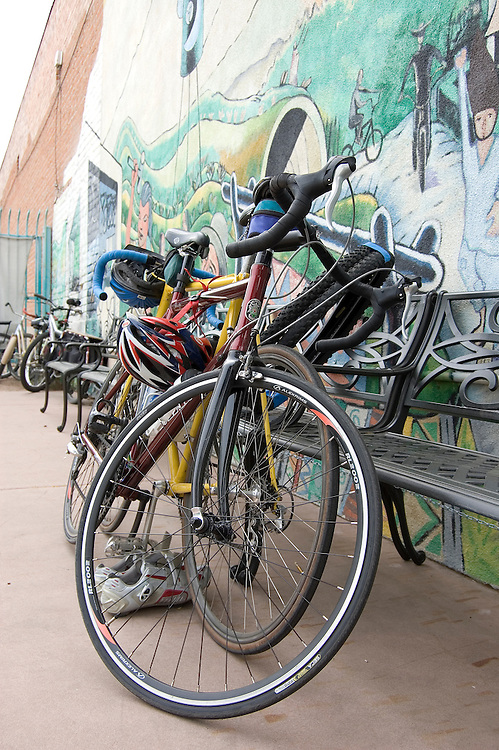 Valet bicycle parking lot at Tucson's spring 2010 Bicycle Swap Meet. Bike-tography by Martha Retallick.