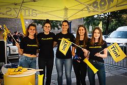 Sponsor girls before sprejem Tima Gajsreja, on Avgust 27, 2019 in Maribor, Slovenia. Photo by Blaž Weindorfer / Sportida