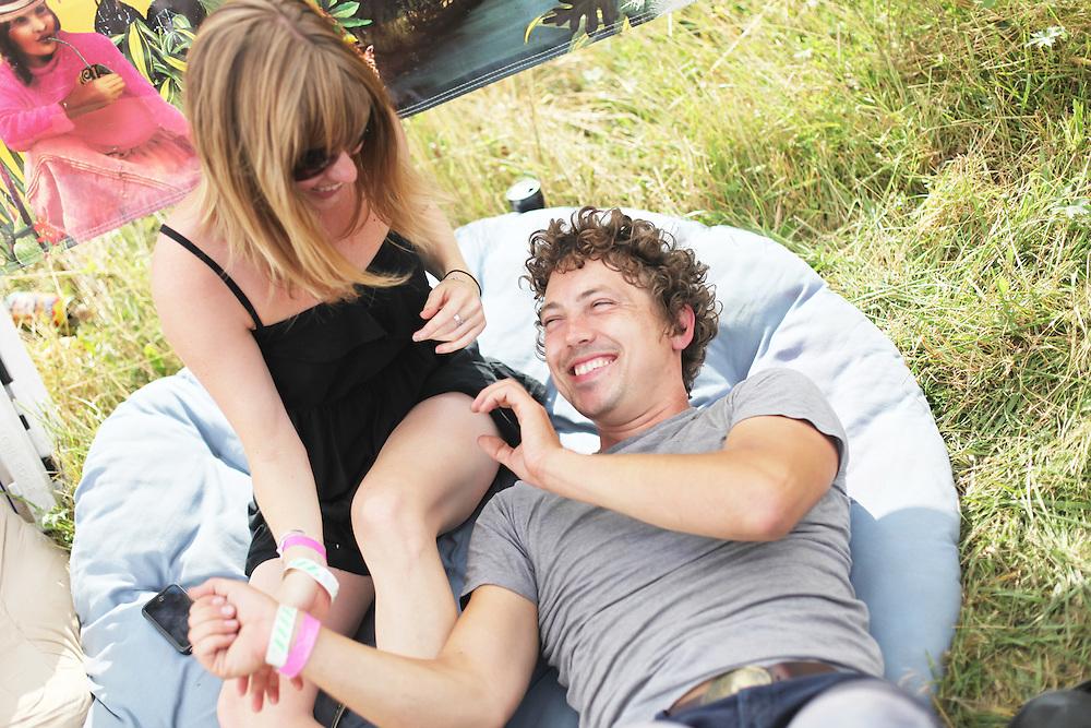 Alisha Sullivan and Sean Flinn. Pickathon 2010. Photographed by Thomas Patterson.