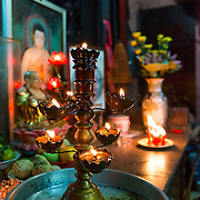 Burning candle at  Jade Emperor Pagoda in Saigon
