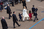 Washington D.C. January 20, 2017 Ivanka  trump and her familyfamily walk along the parade route after Trump is inaugurated as the 45th President of the United States.
