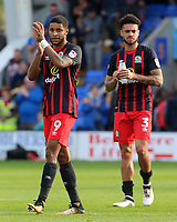 Blackburn Rovers' Dominic Samuel applauds the fans at the final whistle<br /> <br /> Photographer David Shipman/CameraSport<br /> <br /> The EFL Sky Bet League One - Shrewsbury Town v Blackburn Rovers - Saturday 23rd September 2017 - New Meadow - Shrewsbury<br /> <br /> World Copyright © 2017 CameraSport. All rights reserved. 43 Linden Ave. Countesthorpe. Leicester. England. LE8 5PG - Tel: +44 (0) 116 277 4147 - admin@camerasport.com - www.camerasport.com