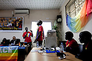 A conference for homosexuals living in Kampala, Uganda. The meeting was the first attempt by the LGBT community in Uganda to unite people against a proposed anti-homosexuality bill in the countries parliment.