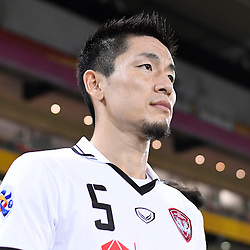BRISBANE, AUSTRALIA - FEBRUARY 21: Naoaki Aoyama of Muangthong United walks out during the Asian Champions League Group Stage match between the Brisbane Roar and Muangthong United FC at Suncorp Stadium on February 21, 2017 in Brisbane, Australia. (Photo by Patrick Kearney/Brisbane Roar)