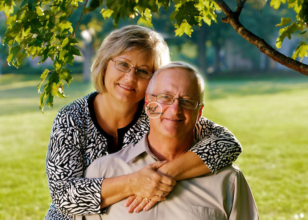 Older Couple Posing Outdoors
