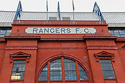 The Main Entrance at Ibrox ahead of the Ladbrokes Scottish Premiership match between Rangers and Kilmarnock at Ibrox, Glasgow, Scotland on 16 March 2019.