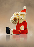 Wooden Christmas decoration of Father Christmas (Santa Claus), cut out