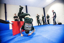 Institute of Krav Maga Scotland instructor training this morning, Alloa..©Michael Schofield.