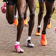 20-10-2019: Atletiek: TCS Amsterdam Marathon: Amsterdam,  km 15, langs de Amstel, leading group men