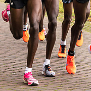 20-10-2019: Atletiek: TCS Amsterdam Marathon: Amsterdam,  km 15, langs de Amstel, leading group men