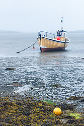 Boats at low tide in Clew Bay, County Mayo Ireland