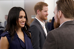 Prince Harry and Meghan Markle meet panelists and beneficiaries during the first Royal Foundation Forum in central London.