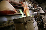 Ghent, Belgium, Aug 2005, Bronzefoundry, processing of bronze into pieces of art. PHOTO © Christophe Vander Eecken