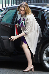 Secretary of State for International Development Penny Mordaunt arrives at 10 Downing Street in London to attend the weekly meeting of the UK cabinet - London. February 06 2018.