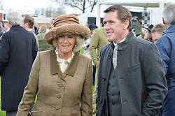 NEWBURY, ENGLAND 26TH NOVEMBER 2016: HRH The Duchess of Cornwall talks to Tony McCoy at Hennessy Gold Cup meeting Newbury racecourse Newbury England. 26th November 2016. Photo by Dominic O'Neill