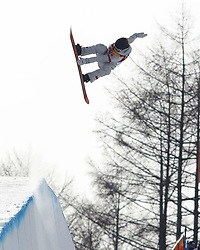 February 12, 2018 - Pyeongchang, KOREA - Kelly Clark (USA) competes in run two of the ladies halfpipe qualification during the Pyeongchang 2018 Olympic Winter Games at Phoenix Snow Park. (Credit Image: © David McIntyre via ZUMA Wire)