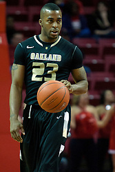 18 February 2012:  Reggie Hamilton during an ESPN Bracketbuster mens basketball game Where the Oakland Golden Grizzlies lost to the Illinois State Redbirds 79-75 in Redbird Arena, Normal IL