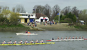 London, Great Britain, General views from the Barnes Rail Bridge area across the river to Emanual School Boathouse, Cygnet and Barnes Bridge Ladies BC. at the 2002 Head of the River Race Championship Course Chiswick [Mortlake] to Putney. River Thames. Saturday, [Mandatory Credit. Peter SPURRIER/Intersport Images. 20020323. Head of the River Race, London. UK.