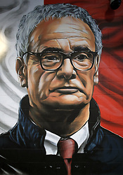 A mural of former Leicester City manager Claudio Ranieri before the Carabao Cup, third round match at the King Power Stadium, Leicester.