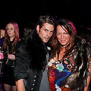 NLD/Amsterdam/20110204 - Modeshow Bjorn Borg 2011, Tessa Koops en een vriend