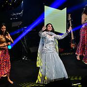Harpz Kaur preforms at the BritAsiaTV Presents Kuflink Punjabi Film Awards 2019 at Grosvenor House, Park Lane, London,United Kingdom. 30 March 2019