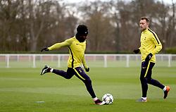 Tottenham Hotspur's Danny Rose during the training session at Tottenham Hotspur Football Club Training Ground, London.