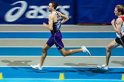 Djoao Lobles in action on the 800 meter during AA Drink Dutch Athletics Championship Indoor on 20 February 2021 in Apeldoorn.