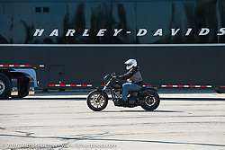 Test rides of the new 2017 Harley-Davidsons at the Pilgrim Road plant during the Milwaukee Rally. Milwaukee, WI, USA. Friday, September 2, 2016. Photography ©2016 Michael Lichter.