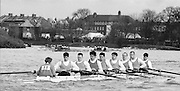 Chiswick. London.<br /> Eights starting from Mortlake<br /> Lea RC.<br /> 1987 Head of the River Race over the reversed Championship Course Mortlake to Putney on the River Thames. Saturday 28.03.1987. <br /> <br /> [Mandatory Credit: Peter SPURRIER;Intersport images] 1987 Head of the River Race, London. UK