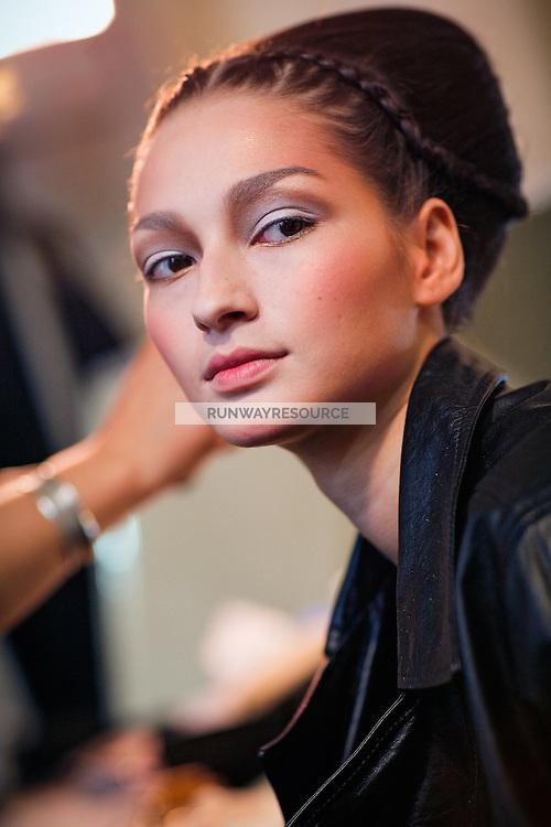 Bruna Tenorio Backstage at Christian Dior Couture Fall 2007