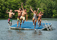 Fun on the water with the Shumway family at Mink Island, Lake Winnipesaukee