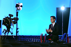 © Licensed to London News Pictures. 03/10/2012. Manchester, UK Ed Miliband, Labour Party leader gives a television interview on Day 4 at The Labour Party Conference at Manchester Central today 3rd october 2012. Photo credit : Stephen Simpson/LNP