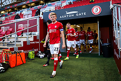 Taylor Moore of Bristol City leads out his team - Rogan/JMP - 24/09/2020 - Ashton Gate Stadium - Bristol, England - Bristol City v Aston Villa - Carabao Cup Third Round.