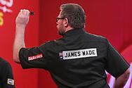 James Wade during the PDC Ladbrokes Masters 2021 at Marshall Arena, Milton Keynes, United Kingdom on 31 January 2021.