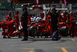 April 27, 2018 - Baku, Azerbaijan - RAIKKONEN Kimi (fin), Scuderia Ferrari SF71H, pitlane during the 2018 Formula One World Championship, Grand Prix of Europe in Azerbaijan from April 26 to 29 in Baku - Photo  /  Motorsports: World Championship; 2018; Grand Prix Azerbaijan, Grand Prix of Europe, Formula 1 2018 Azerbaijan Grand Prix, (Credit Image: © Hoch Zwei via ZUMA Wire)