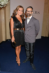ELLA KRASNER and NICHOLAS OAKWELL at the De Beers Moments in Light - a celebration of telented women in association with Women For Women International featuring photographs by Mary McCartney held at Claridge's, Brook Street, London on 18th September 2015.