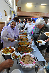 Curry lunch at a Community Centre Health promotion day, Keighley, West Yorkshire