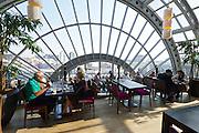 Berlin, Germany. Kurfürstendamm. KaDeWe (Kaufhaus des Westens). Restaurant at the top floor.