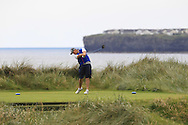 Colm Campbell Jnr (Warrenpoint) on the 4th tee during Matchplay Round 2 of the South of Ireland Amateur Open Championship at LaHinch Golf Club on Friday 22nd July 2016.<br /> Picture:  Golffile | Thos Caffrey<br /> <br /> All photos usage must carry mandatory copyright credit   (© Golffile | Thos Caffrey)